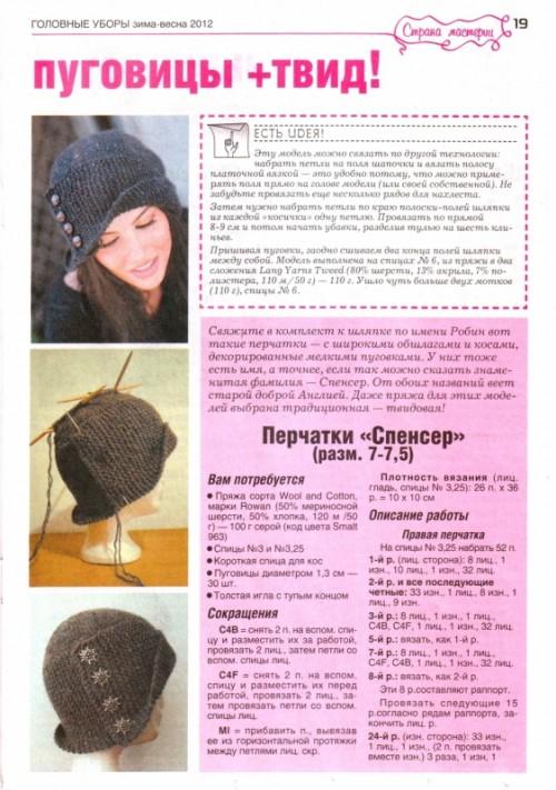 Своими руками вязание спицами шапки