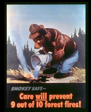 Медведь Смоки на плакате