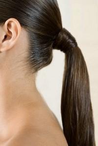Хвост из здоровых волос