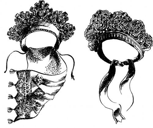 Девичий головной убор почелок